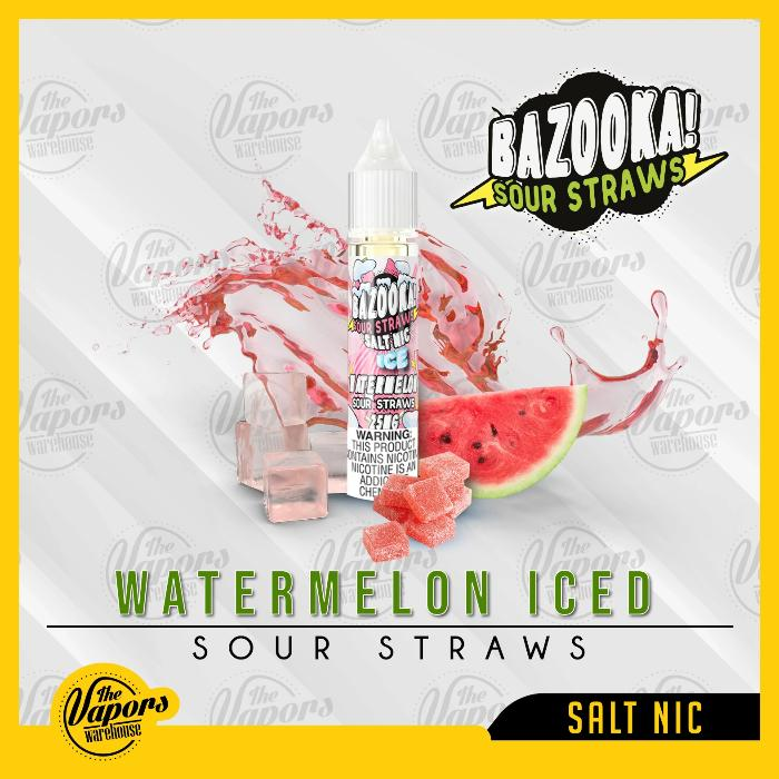 BAZOOKA SALTNIC - ICE WATERMELON SOUR STRAWS