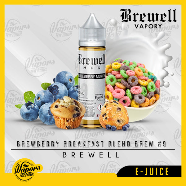 Brewell - Brewberry Breakfast Blend Brew #9 60ml / 3mg,60ml / 6mg