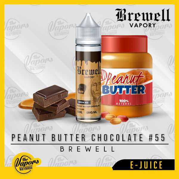 Brewell - Peanut Butter Chocolate #55 60ml / 3mg,60ml / 6mg