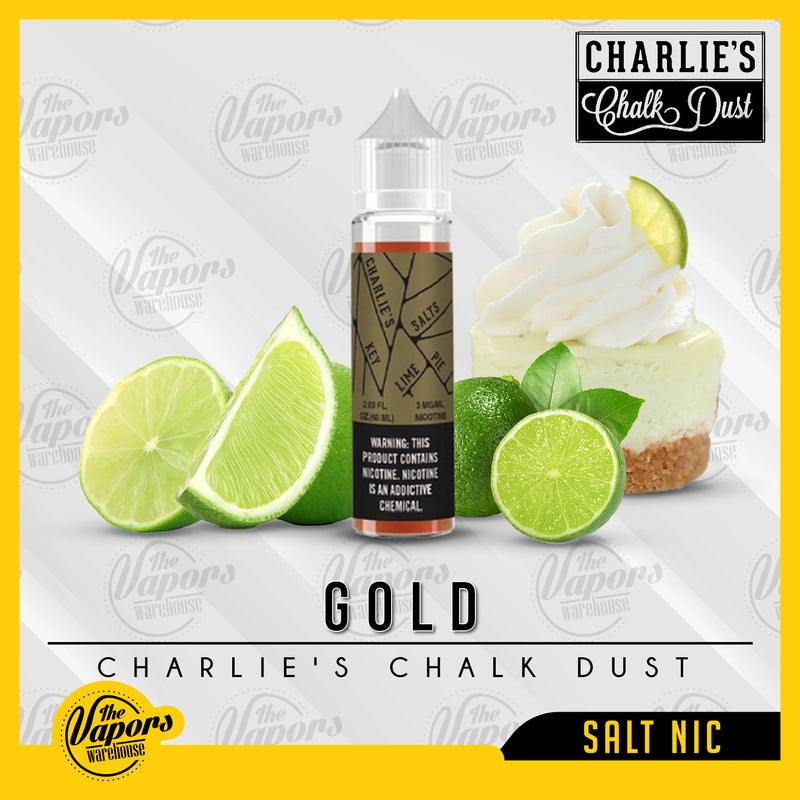 Charlie's Chalk Dust - Gold (SaltNic for SubOhm) 60ml / 3mg