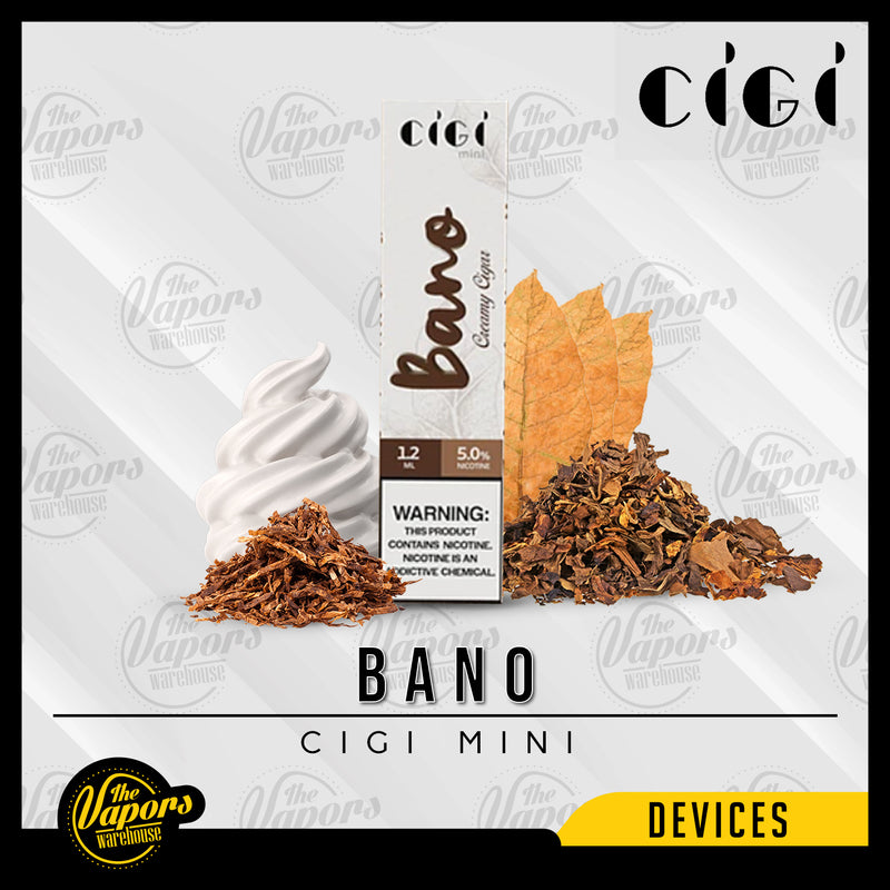 Cigi Mini Disposable Device 1 Pack (1 Device) / Bano,1 Box (10 Devices) / Bano