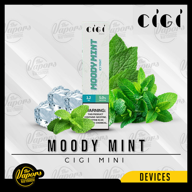 Cigi Mini Disposable Device 1 Pack (1 Device) / Moody Mint,1 Box (10 Devices) / Moody Mint