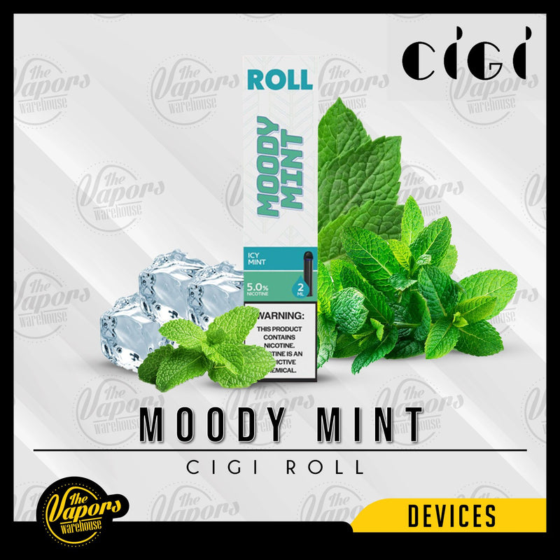 Cigi Roll Disposable Device 1 Pack (1 Device) / Moody Mint