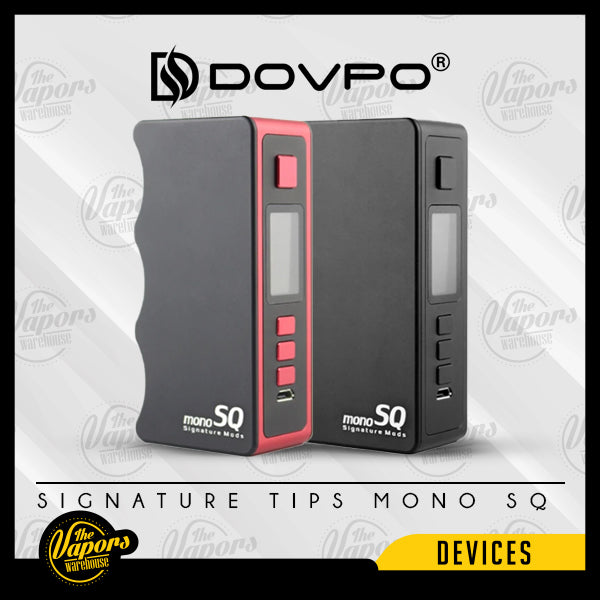 DOVPO SIGNATURE TIPS MONO SQ DNA75C BOX MOD Black,Red