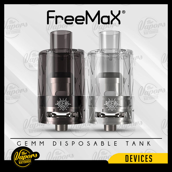 FREEMAX GEMM DISPOSABLE TANK Black,Clear