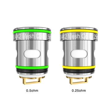 FREEMAX AUTOPOD50 REPLACEMENT COILS 0.25ohm AX2 Mesh Coil - rated for 30-50W,0.5ohm AX2 Mesh Coil - rated for 15-35W