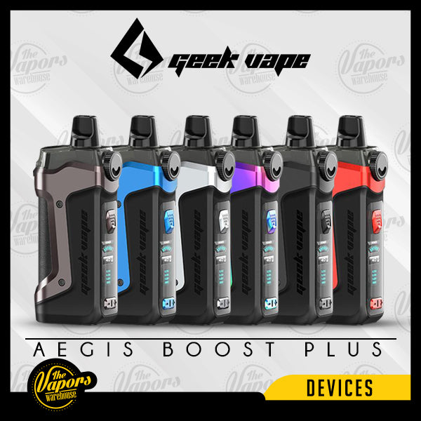 GEEK VAPE AEGIS BOOST PLUS 40W POD MOD KIT Gunmetal,Space Black,Devil Red,Almighty Blue,Aura Glow,Classic Silver