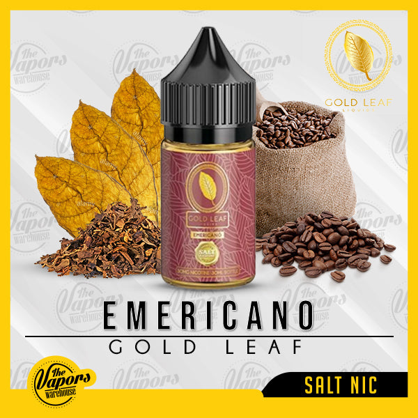 GOLD LEAF Salts - Emericano 30ml / 30mg,30ml / 50mg