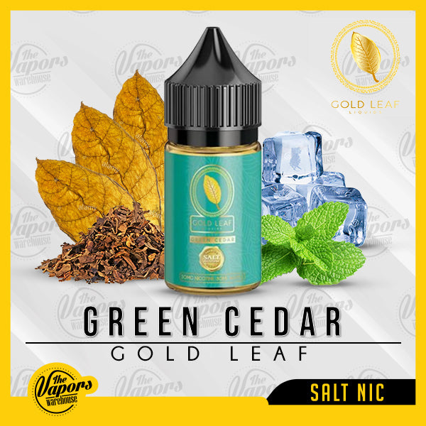 GOLD LEAF Salts - GREEN CEDAR 30ml / 30mg,30ml / 50mg