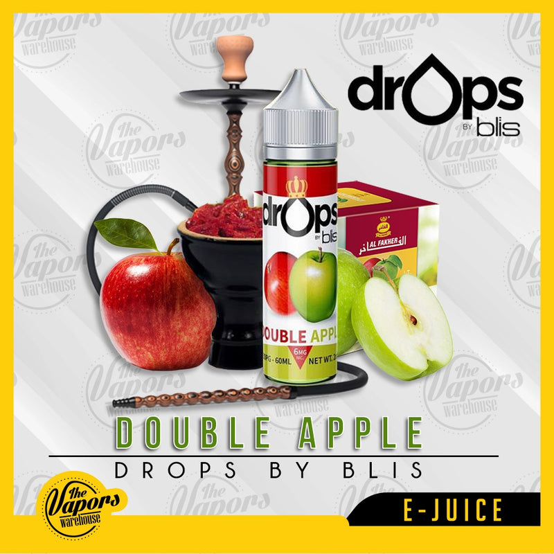drops by blis double apple 60ml