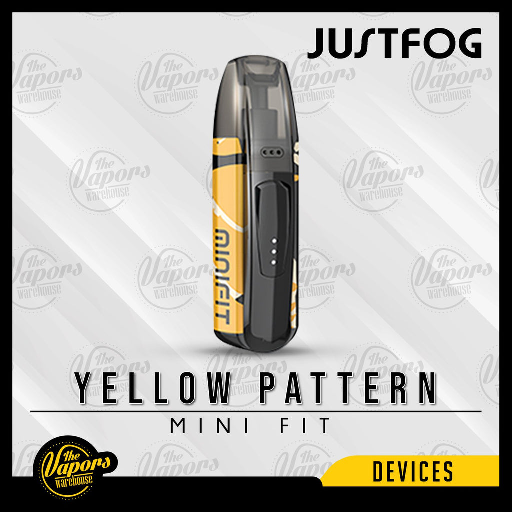 JUSTFOG MINI FIT ULTRA PORTABLE POD SYSTEM Yellow Pattern