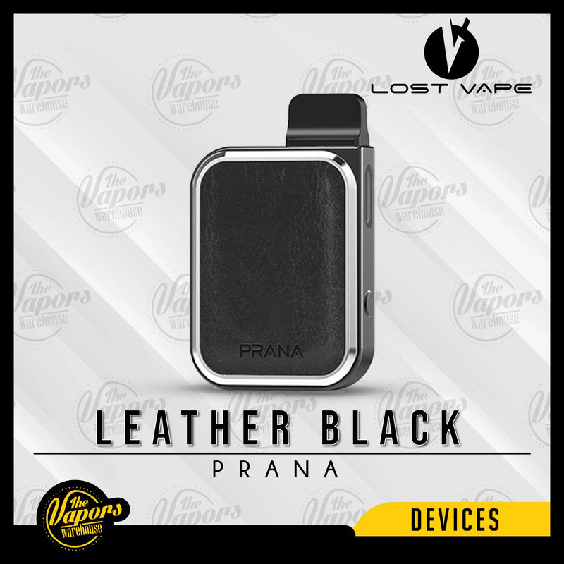 LOST VAPE PRANA 12W POD SYSTEM Leather Black (Gun metal)