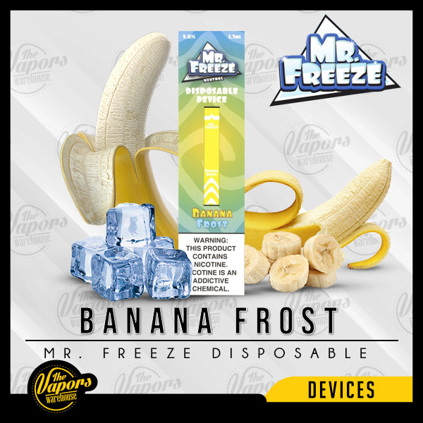 Mr. Freeze Disposable Pod Vape Device Banana Frost