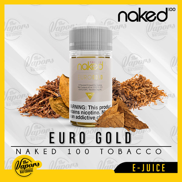 Naked 100 E-Liquid - Euro Gold 60ml / 0mg,60ml / 12mg,60ml / 3mg