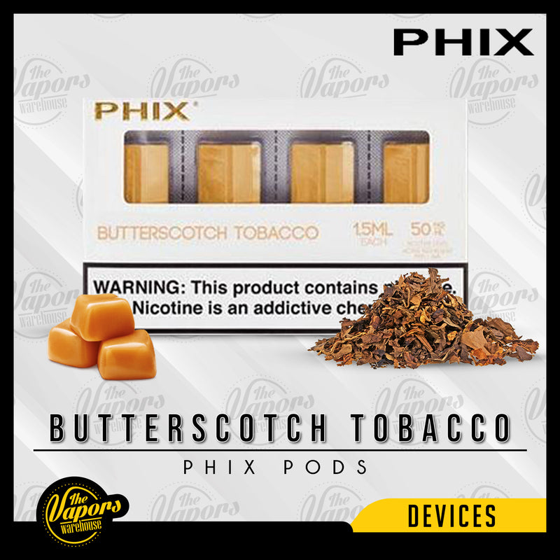 PHIX Pods Pack (4 Pods) Butterscotch Tobacco