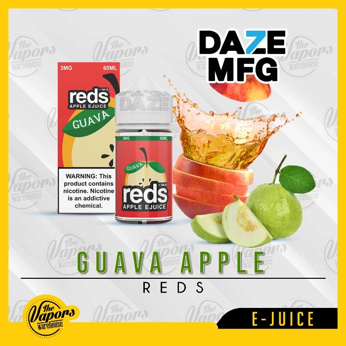 Guava Red's Apple E Juice by 7 Daze 60mL