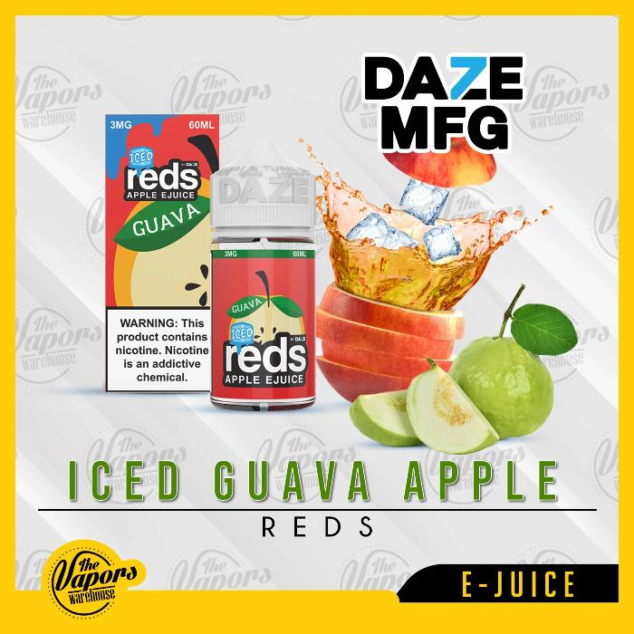 Guava Ice Red's Apple E Juice by 7 Daze 60mL