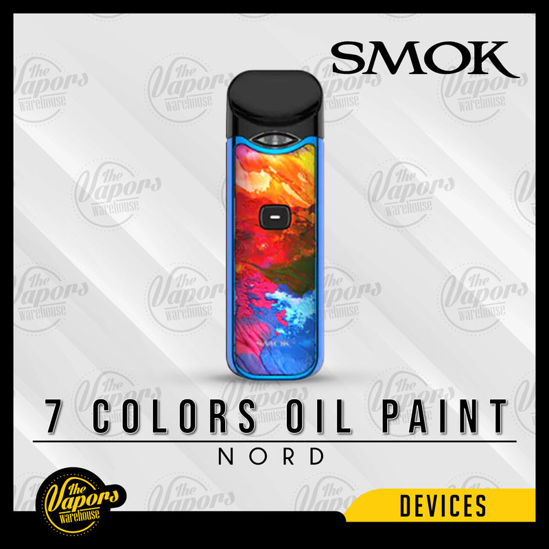 SMOK NORD 15W ULTRA PORTABLE POD KIT 7 Colors Oil Paint
