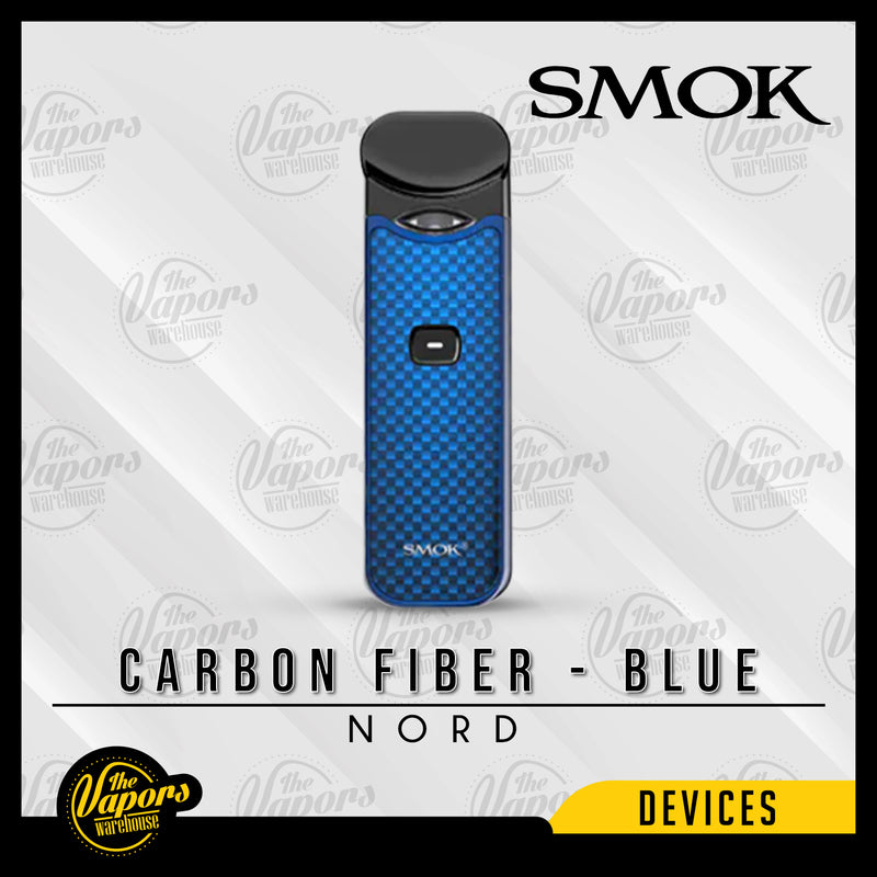 SMOK NORD 15W ULTRA PORTABLE POD KIT Carbon Fiber - Blue