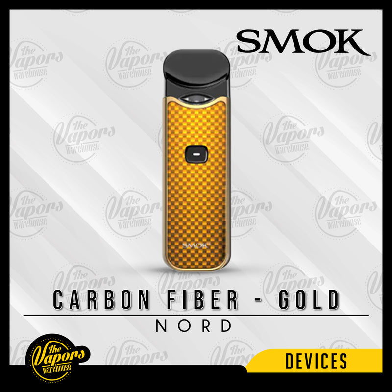 SMOK NORD 15W ULTRA PORTABLE POD KIT Carbon Fiber - Gold