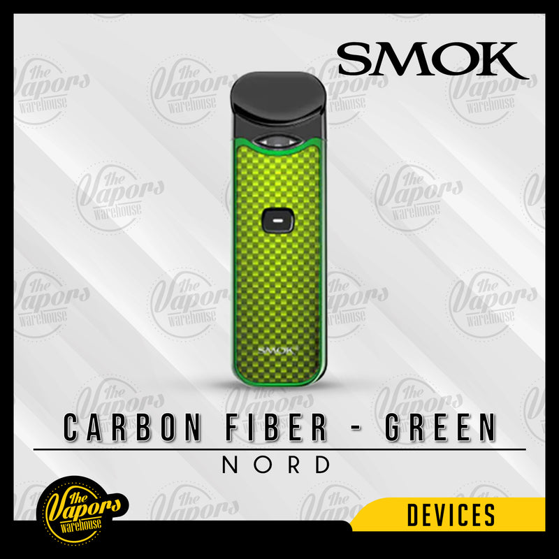 SMOK NORD 15W ULTRA PORTABLE POD KIT Carbon Fiber - Green