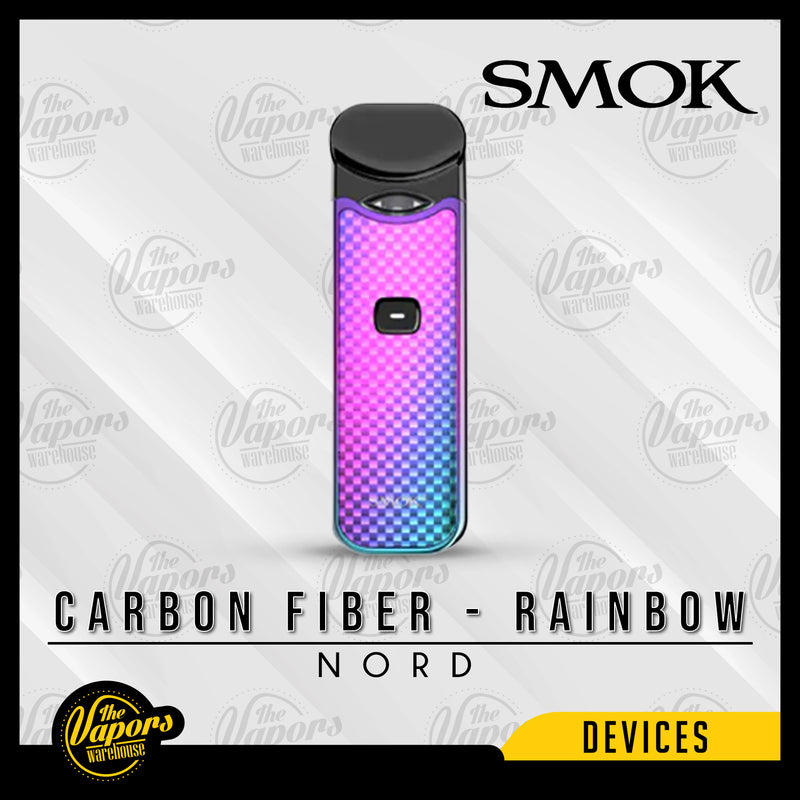 SMOK NORD 15W ULTRA PORTABLE POD KIT Carbon Fiber - Rainbow