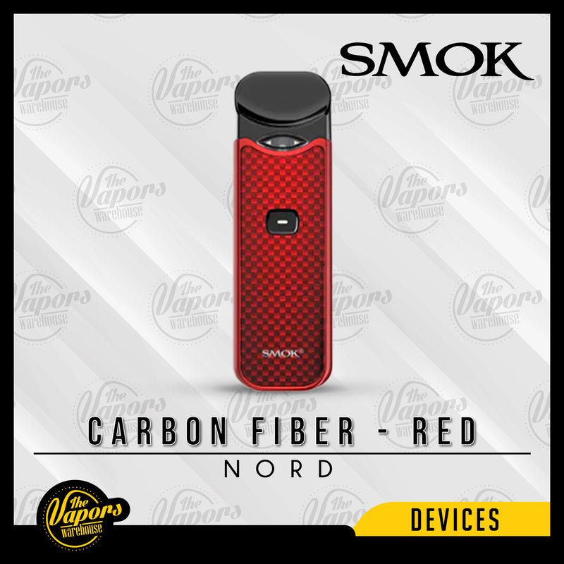 SMOK NORD 15W ULTRA PORTABLE POD KIT Carbon Fiber - Red