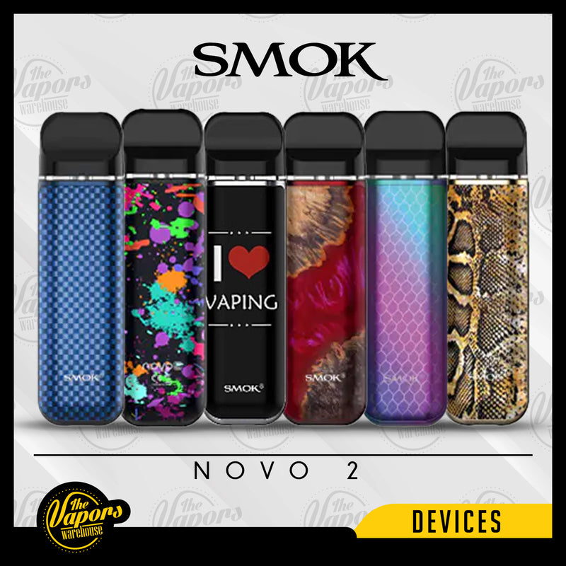 SMOK NOVO 2 25W POD SYSTEM 7 colors,Blue Carbon Fiber,Gold Carbon Fiber,Black Carbon Fiber,Purple Red Carbon Fiber,Black 7 color Spray,7 Colors Spray,I Love vaping,Black Stabilizing Wood,Red Stabilizing Wood,Blue Stabilizing Wood,IML 7 Color Cobra,7 Color Carbon Fiber,Gold Cobra,Blue & Brown,7 Colors Shell