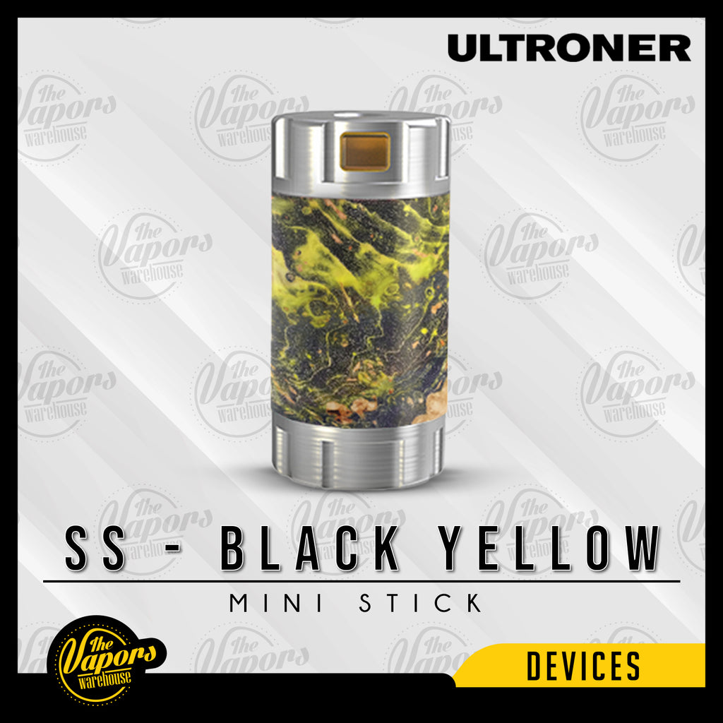⚠️ ULTRONER MINI STICK 18350 TUBE (MOD ONLY) SS - Black Yellow