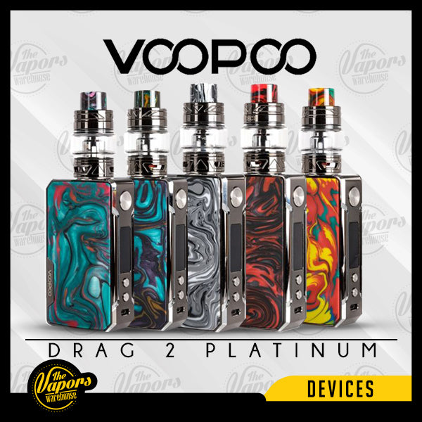 VOOPOO Drag 2 Platinum Edition Kit Platinum - Scarlet,Platinum - Ink,Platinum - Aurora,Platinum - Dawn,Platinum-  Flame