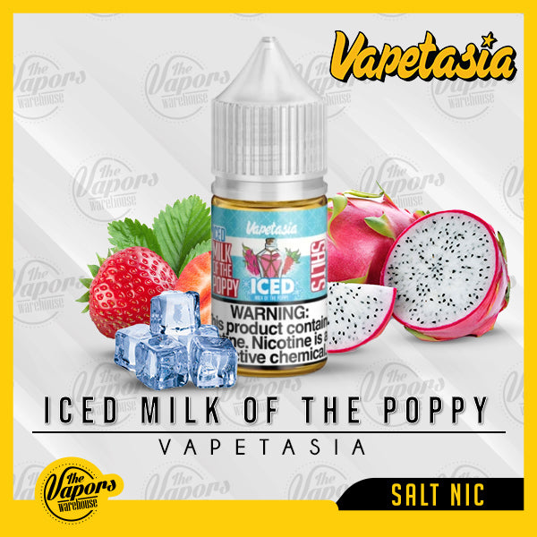 Vapetasia Salt - ICED MILK OF THE POPPY 30ml / 24mg,30ml / 48mg