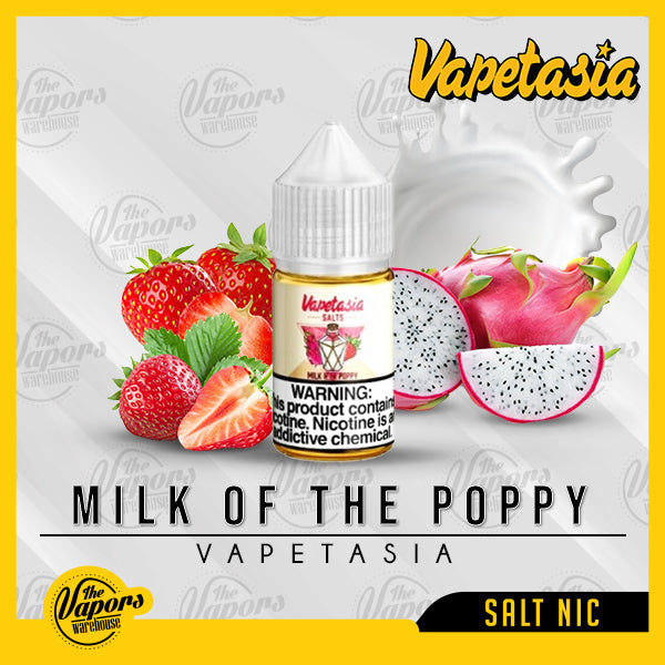 Vapetasia - Milk Of The Poppy  Salts 30ml / 48mg,30ml / 24mg