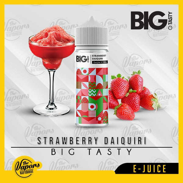 Big Tasty - Strawberry Daiquiri (120ml) 120ml / 0mg (100ml),120ml / 3mg (120ml)