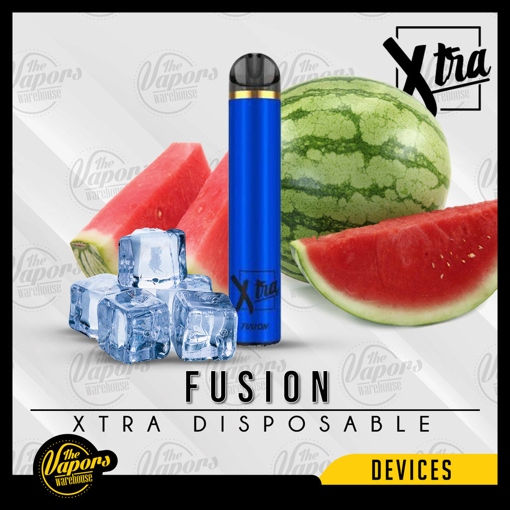 Xtra Disposable Device - (1500 Puff) 50MG / Fusion (Watermelon Ice),20MG / Fusion (Watermelon Ice),0MG / Fusion (Watermelon Ice)