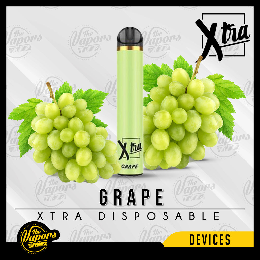 Xtra Disposable Device - (1500 Puff) 50MG / Grape,20MG / Grape,0MG / Grape