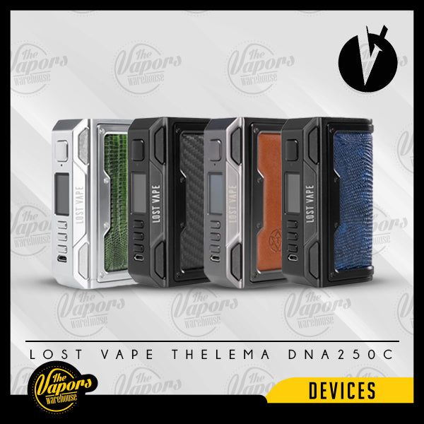 LOST VAPE THELEMA DNA250C MOD MOD SS/Calf Leather,Gunmetal/Calf Leather,Black/Calf Leather,SS/Carbon Fiber,Gunmetal/Carbon Fiber,Black/Carbon Fiber,SS/Oasis Oriental,Gunmetal/Desert Fox,Black/Voyages