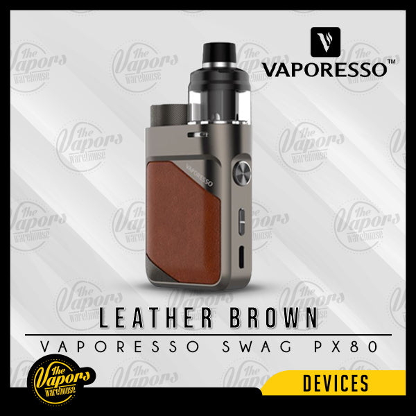 VAPORESSO SWAG PX80 POD MOD KIT Leather Brown