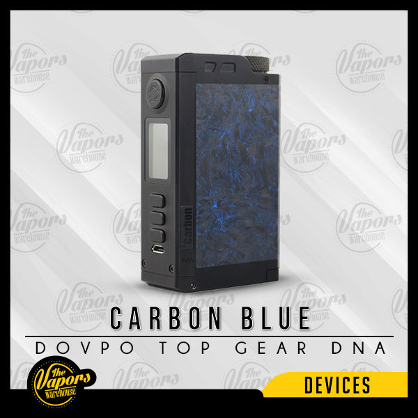 DOVPO TOP GEAR DNA250C 200W BOX MOD Carbon Blue