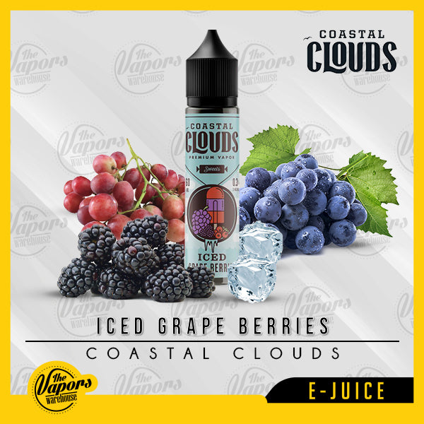 Coastal Clouds - Iced Grape Berries 60ml / 3mg,60ml / 6mg