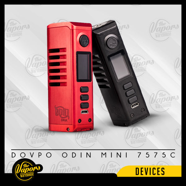 DOVPO ODIN MINI DNA75C BOX MOD Brushed Black,Brushed Gunmetal,Brushed Red