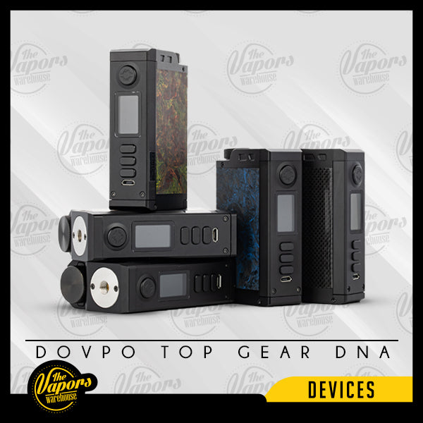 DOVPO TOP GEAR DNA250C 200W BOX MOD Carbon Black,Carbon Rusty,Carbon Blue,Carbon Grid,Monet
