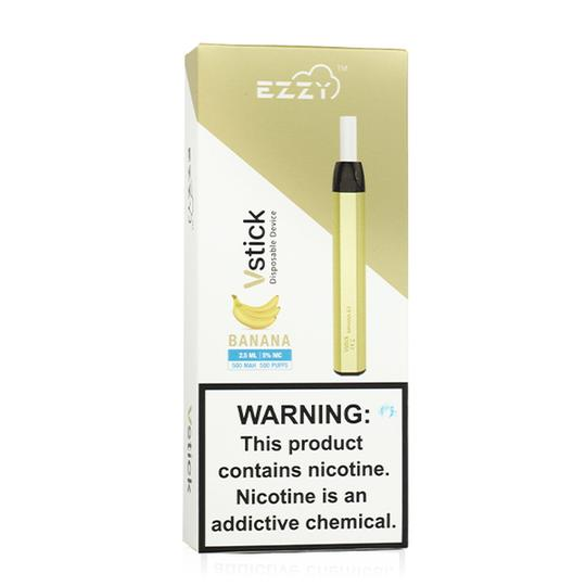 Ezzy VSTICK DISPOSABLE (1000 Puff) Banana Ice