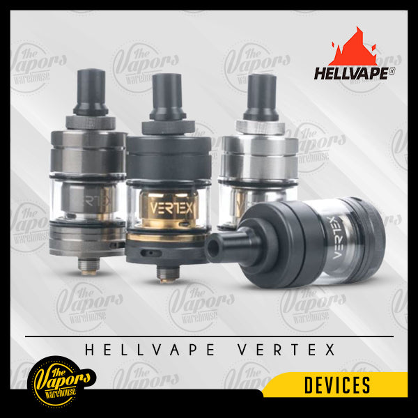 Hellvape - VERTEX MTL RTA Matt Black,SS,Gunmetal,Black - Gold