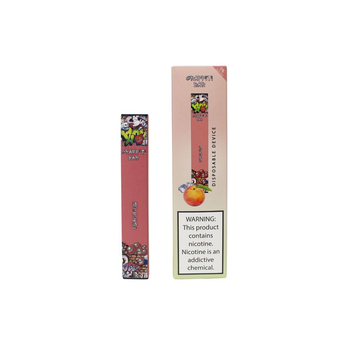 Graffiti Bar Disposable Vapes 5% (50mg) Peach Ice
