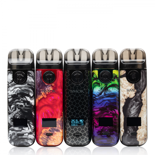 SMOK NOVO 4 25W POD SYSTEM Blue Gray Cobra,Silver Carbon Fiber,Black Carbon Fiber,Black Stabilizing Wood,Red Stabilizing Wood,Fluid 7 Colors,Cyan Pink Cobra