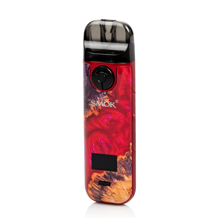 SMOK NOVO 4 25W POD SYSTEM Red Stabilizing Wood
