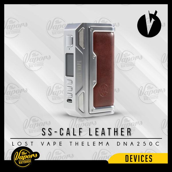 LOST VAPE THELEMA DNA250C MOD MOD SS/Calf Leather