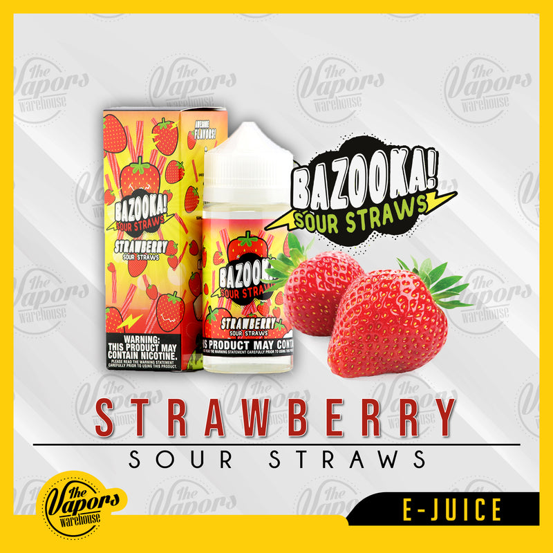 bazooka vape strawberry sour straws