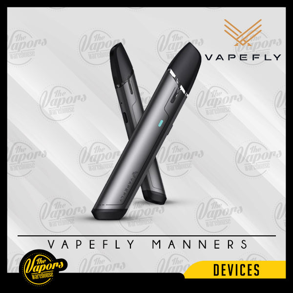 Vapefly Manners Pod Kit 650mAh Black,Gery,Blue,Deep Red,Dark Green,Purple
