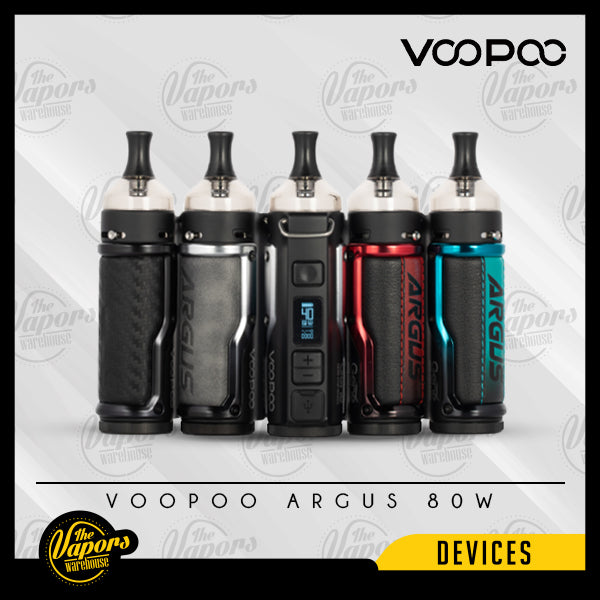 VOOPOO ARGUS 40W POD MOD KIT Denim & Silver,Carbon Fiber & Black,Litchi Leather & Red,Litchi Leather & Blue,Vintage Grey & Silver